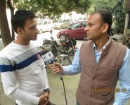 HIMCOM Mass communication course student with ABP News Reporter