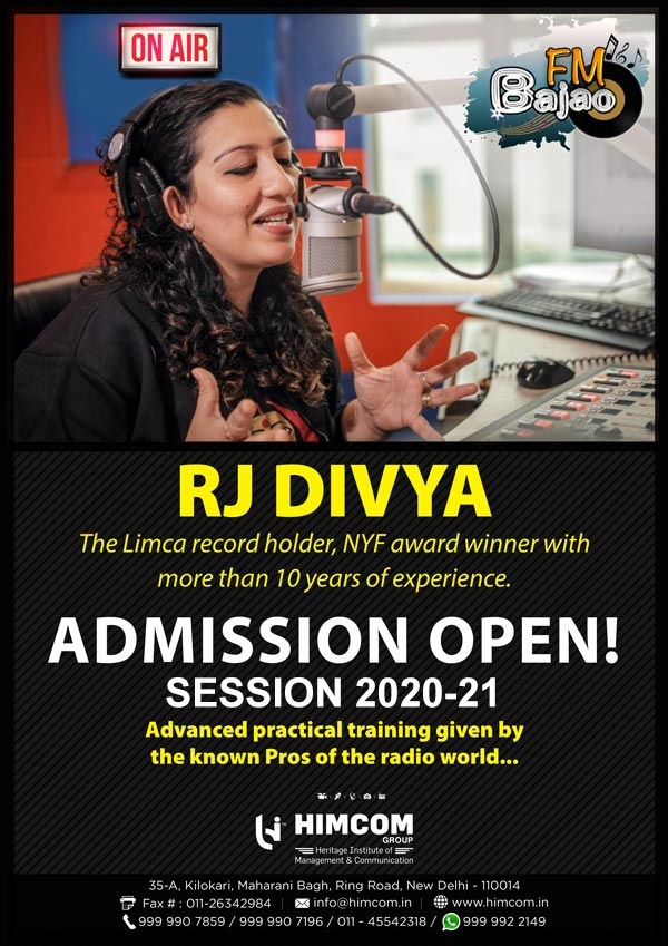 RJ Divya at HIMCOM FM BAJAO